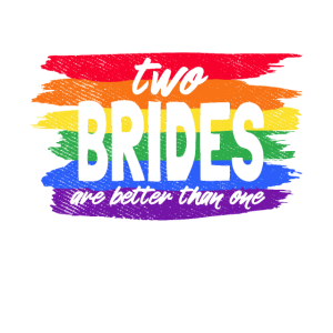 Zwei Bräute sind besser als eine. LGBT Hochzeit