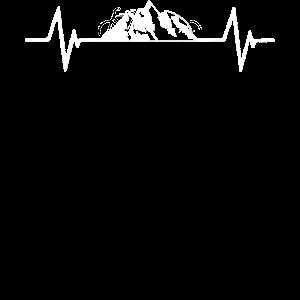 Love Mountains Heartbeat Wandern Skifahren