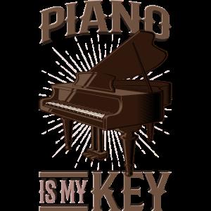 Piano Is My Key - Klavier Pianist Klavierspieler