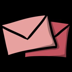 Briefe Empfang Sekretärin Geschenkidee Umschläge