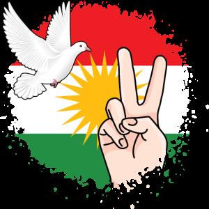 Kurdistan Flagge Peace Kurdisch Kurdish Geschenk