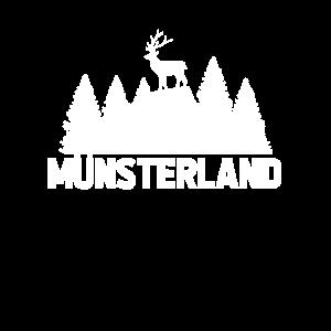 Münsterland Wald Hirsch Wald Wandern Heimat
