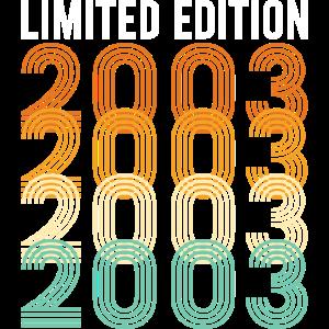Vintage Limited Edition2003 Geburtstag Geburtsjahr