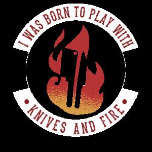 Küchenchef, geboren um mit Messern & Feuer