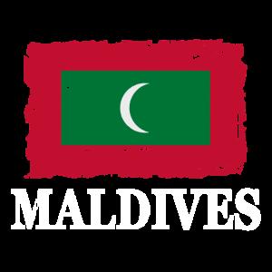 Flag of Maldives - Malediven Flagge - shabby look