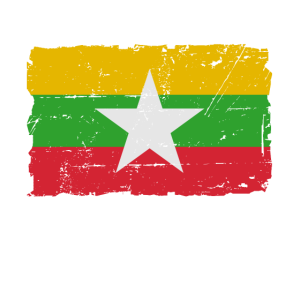 Flag of Myanmar - Myanmar Flagge - shabby look