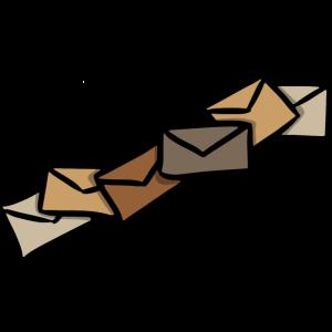 Briefe Nachricht Senden Versand Post