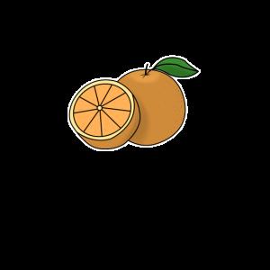 Orange handgezeichnete Früchte Sommer