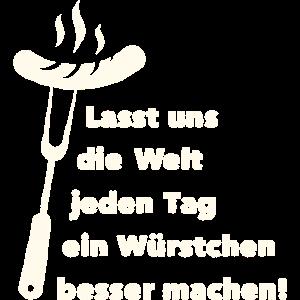Grillshirt für den Weltfrieden Grillwurst Shirt