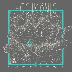 Hochkoenig Contour Lines - Square