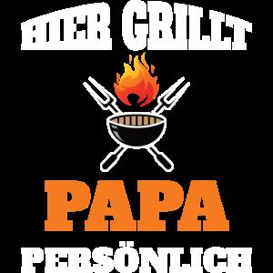 Grill Bbq Hier Grillt Papa Geschenkidee