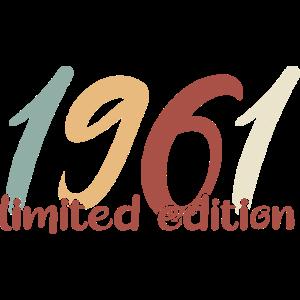1961 Geburtstag 60 Jahre Geburtsjahr Geschenkidee