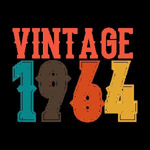 BORN IN 1964 Geburtstag Geschenk Vintage Männer