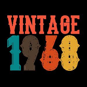 BORN IN 1968 Geburtstag Geschenk Vintage Männer