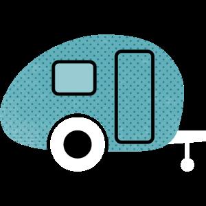 Caravan Wohnwagen Punkte Abenteuer Retro Camping
