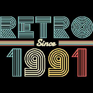 Retro seit 1991 30 Jahre alte Geschenke 30. Geburtstag
