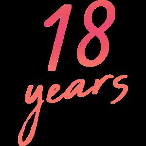 18 Jahre