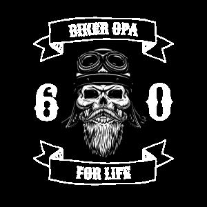 Biker Opa, 60. Geburtstag, Geschenk, Rocker, Cool,