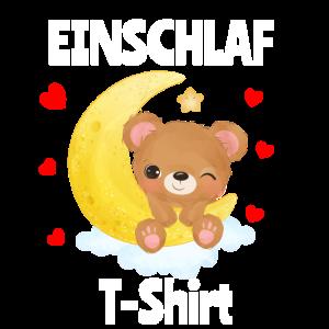 Einschlaf T-shirt Kinder Bär träumen