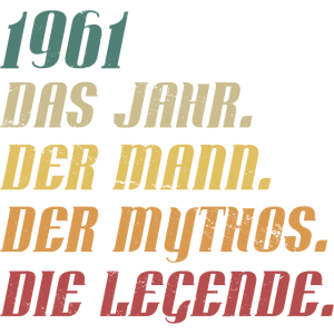 Jahrgang 1961 geboren Mann Mythos Legende