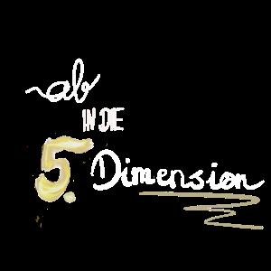 Schriftzug 5. Dimension