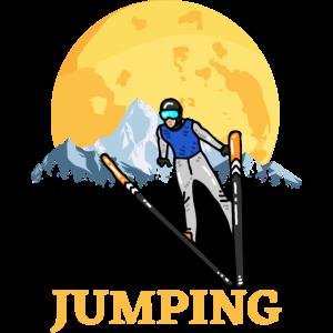 Jumping Skispringen Winter Sport-Geschenk Fan-Springen