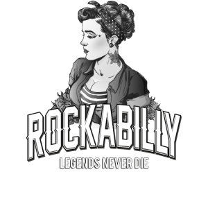 Rockabilly Girl Retro Vintage Rock and Roll