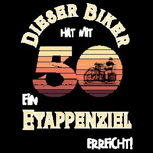 Dieser Biker hat mit 50 ein Etappenziel erreicht