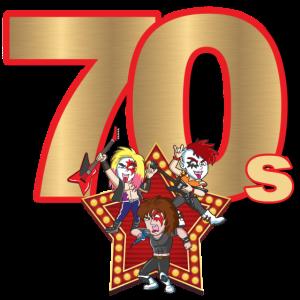 70er Jahre Musik Glam Rock Band