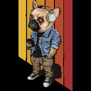 French Bulldog Retro