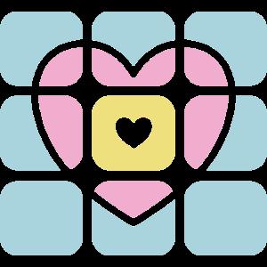 Geschenk Herz Muster Pastellfarben Geburtstag Frau