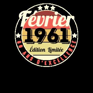 60. Geburtstag 60 Jahre 1961 Februar