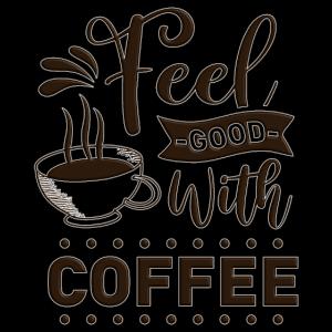 Kaffe Gutes Gefühl Heiße Tasse Kaffee Spruch