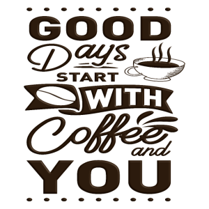 Kaffee und Du Tasse Kaffee Kaffeebohnen Spruch