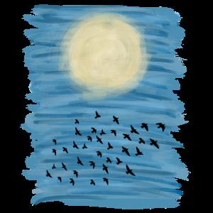 Sonne Blauer Himmel Acryl Malerei