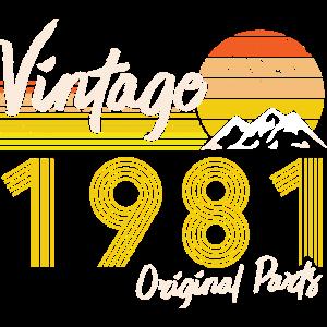 40. Geburtstag 2021 40 Originalteile März 1981