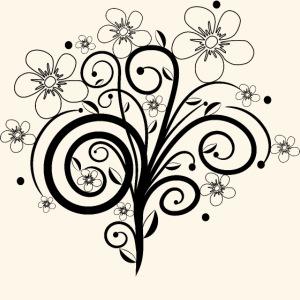 Blumenranke, Blumen, Blüten, floral, Ornamente
