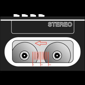 Walkman kompakt schwarz