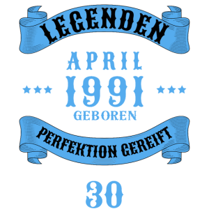30. Geburtstag 30 Jahre 1991 April
