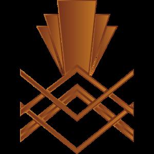 Kupfer Art-Deco-Design