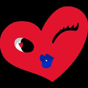 flirty Herz - zwinkerndes Herzchen