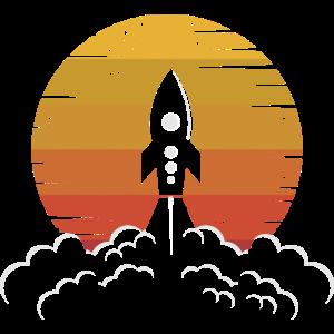 Retro Luft- und Raumfahrtingenieur Astronaut Gesch