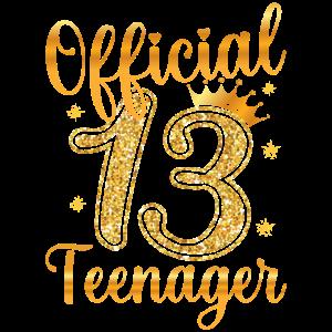 13. Geburtstag Mädchen 13 Jahre Teenager Geschenk