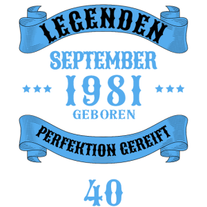 40. Geburtstag 40 Jahre 1981 September