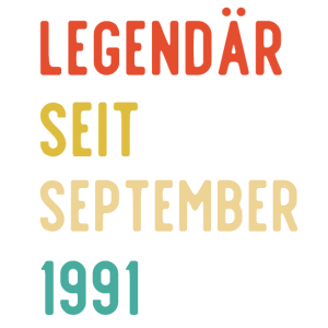 30. Geburtstag Legendär September 1991