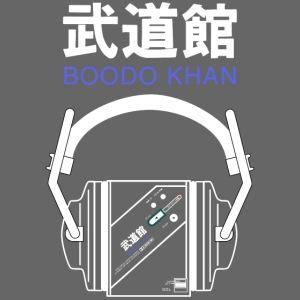 Boodo Khan walkman with headhones & Title