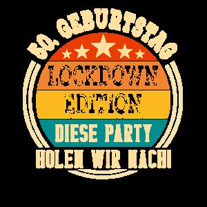 50. Geburtstag 50 Jahre Jahrgang Lockdown Edition