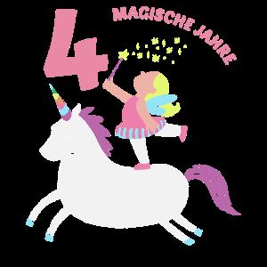 4. Geburtstag Mädchen Einhorn Ich Bin Schon 4