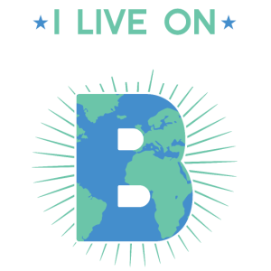 I live on Planet B lustiges Sarkastisches Erde