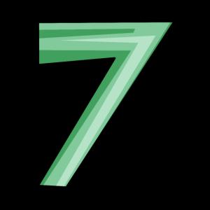 Ziffer 7 in grün